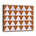 TRIANGLE2 WHITE MARBLE & RUSTED METAL Deluxe Canvas 24  x 20   View1