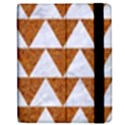 TRIANGLE2 WHITE MARBLE & RUSTED METAL Apple iPad 3/4 Flip Case View2