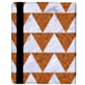 TRIANGLE2 WHITE MARBLE & RUSTED METAL Apple iPad 3/4 Flip Case View3