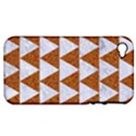 TRIANGLE2 WHITE MARBLE & RUSTED METAL Apple iPhone 4/4S Hardshell Case (PC+Silicone) View1