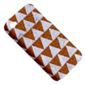 TRIANGLE2 WHITE MARBLE & RUSTED METAL Apple iPhone 4/4S Hardshell Case (PC+Silicone) View5