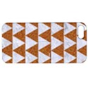 TRIANGLE2 WHITE MARBLE & RUSTED METAL Apple iPhone 5 Hardshell Case with Stand View1