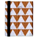 TRIANGLE2 WHITE MARBLE & RUSTED METAL Samsung Galaxy Tab 8.9  P7300 Flip Case View3