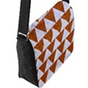 TRIANGLE2 WHITE MARBLE & RUSTED METAL Flap Messenger Bag (L)  View2