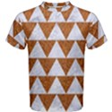 TRIANGLE2 WHITE MARBLE & RUSTED METAL Men s Cotton Tee View1