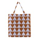TRIANGLE2 WHITE MARBLE & RUSTED METAL Grocery Tote Bag View1