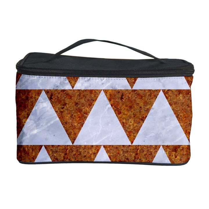 TRIANGLE2 WHITE MARBLE & RUSTED METAL Cosmetic Storage Case