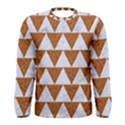 TRIANGLE2 WHITE MARBLE & RUSTED METAL Men s Long Sleeve Tee View1