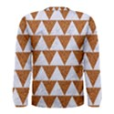 TRIANGLE2 WHITE MARBLE & RUSTED METAL Men s Long Sleeve Tee View2