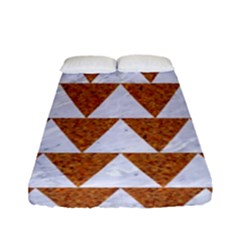 Triangle2 White Marble & Rusted Metal Fitted Sheet (full/ Double Size)
