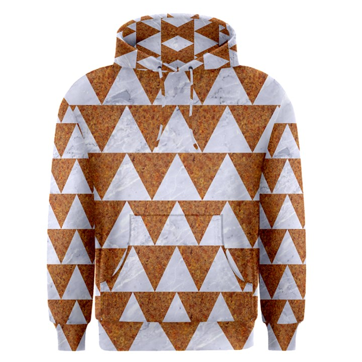 TRIANGLE2 WHITE MARBLE & RUSTED METAL Men s Pullover Hoodie
