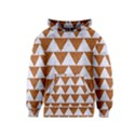 TRIANGLE2 WHITE MARBLE & RUSTED METAL Kids  Pullover Hoodie View1
