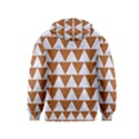 TRIANGLE2 WHITE MARBLE & RUSTED METAL Kids  Pullover Hoodie View2