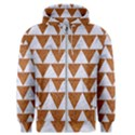 TRIANGLE2 WHITE MARBLE & RUSTED METAL Men s Zipper Hoodie View1