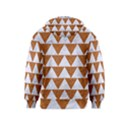 TRIANGLE2 WHITE MARBLE & RUSTED METAL Kids  Zipper Hoodie View2