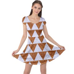 Triangle2 White Marble & Rusted Metal Cap Sleeve Dress