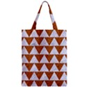 TRIANGLE2 WHITE MARBLE & RUSTED METAL Zipper Classic Tote Bag View1