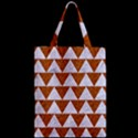 TRIANGLE2 WHITE MARBLE & RUSTED METAL Zipper Classic Tote Bag View2