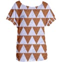 TRIANGLE2 WHITE MARBLE & RUSTED METAL Women s Oversized Tee View1
