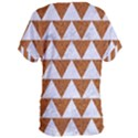 TRIANGLE2 WHITE MARBLE & RUSTED METAL Women s Oversized Tee View2