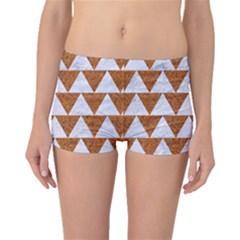 Triangle2 White Marble & Rusted Metal Boyleg Bikini Bottoms