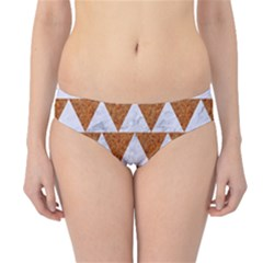 Triangle2 White Marble & Rusted Metal Hipster Bikini Bottoms