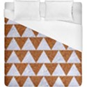 TRIANGLE2 WHITE MARBLE & RUSTED METAL Duvet Cover (King Size) View1
