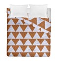 TRIANGLE2 WHITE MARBLE & RUSTED METAL Duvet Cover Double Side (Full/ Double Size) View1
