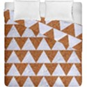 TRIANGLE2 WHITE MARBLE & RUSTED METAL Duvet Cover Double Side (King Size) View1