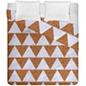 TRIANGLE2 WHITE MARBLE & RUSTED METAL Duvet Cover Double Side (California King Size) View1