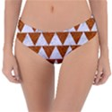 TRIANGLE2 WHITE MARBLE & RUSTED METAL Reversible Classic Bikini Bottoms View1