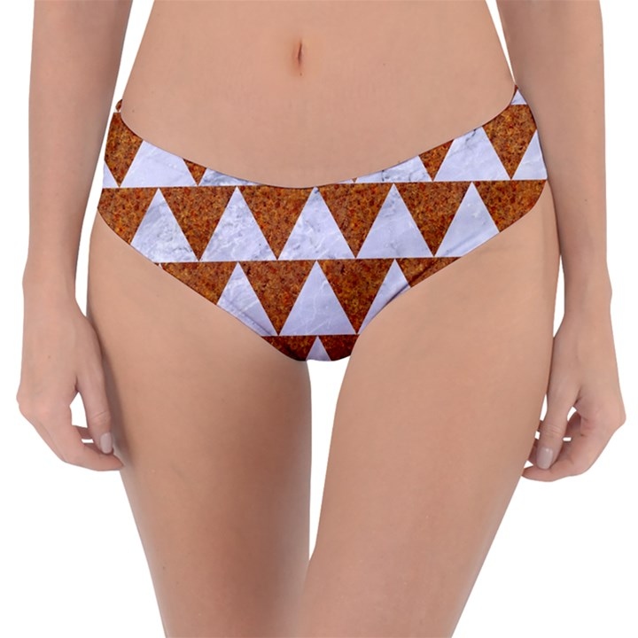TRIANGLE2 WHITE MARBLE & RUSTED METAL Reversible Classic Bikini Bottoms