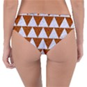 TRIANGLE2 WHITE MARBLE & RUSTED METAL Reversible Classic Bikini Bottoms View2