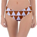 TRIANGLE2 WHITE MARBLE & RUSTED METAL Reversible Classic Bikini Bottoms View3