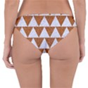 TRIANGLE2 WHITE MARBLE & RUSTED METAL Reversible Hipster Bikini Bottoms View4
