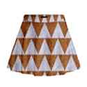 TRIANGLE2 WHITE MARBLE & RUSTED METAL Mini Flare Skirt View1