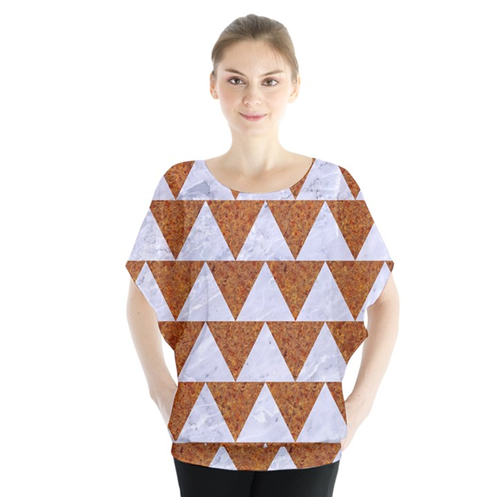 TRIANGLE2 WHITE MARBLE & RUSTED METAL Blouse