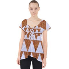 Triangle2 White Marble & Rusted Metal Lace Front Dolly Top