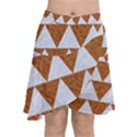 TRIANGLE2 WHITE MARBLE & RUSTED METAL Chiffon Wrap View1