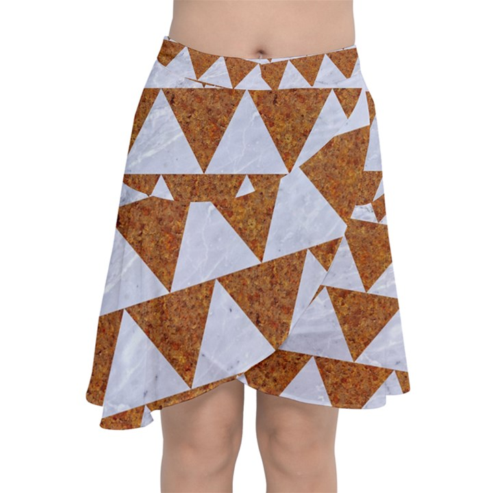 TRIANGLE2 WHITE MARBLE & RUSTED METAL Chiffon Wrap