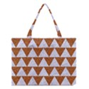 TRIANGLE2 WHITE MARBLE & RUSTED METAL Medium Tote Bag View1