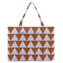 TRIANGLE2 WHITE MARBLE & RUSTED METAL Zipper Medium Tote Bag View1