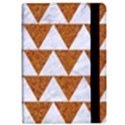 TRIANGLE2 WHITE MARBLE & RUSTED METAL Apple iPad Pro 9.7   Flip Case View2
