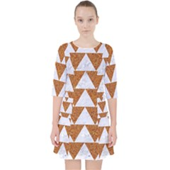 Triangle2 White Marble & Rusted Metal Pocket Dress