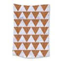TRIANGLE2 WHITE MARBLE & RUSTED METAL Small Tapestry View1