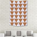 TRIANGLE2 WHITE MARBLE & RUSTED METAL Small Tapestry View2