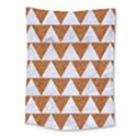 TRIANGLE2 WHITE MARBLE & RUSTED METAL Medium Tapestry View1
