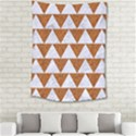 TRIANGLE2 WHITE MARBLE & RUSTED METAL Medium Tapestry View2