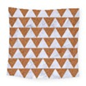 TRIANGLE2 WHITE MARBLE & RUSTED METAL Square Tapestry (Large) View1