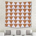 TRIANGLE2 WHITE MARBLE & RUSTED METAL Square Tapestry (Large) View2